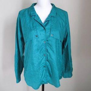 Diane Von Furstenberg Vintage green shirt top M
